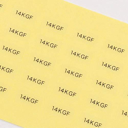 だいし屋 日本製 台紙用シール 10×5mm アクセサリー台紙用 (14KGF・透明, 250枚)