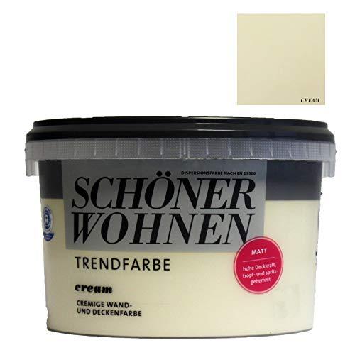 Schöner Wohnen Trend Wandfarbe matt Cream 2,5L