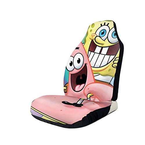 Spongebob and Patrick Car Seat Cover Universal Vehicle Seat Decorative Protector Fits Most Cars Trucks Vans SUV Front Seats