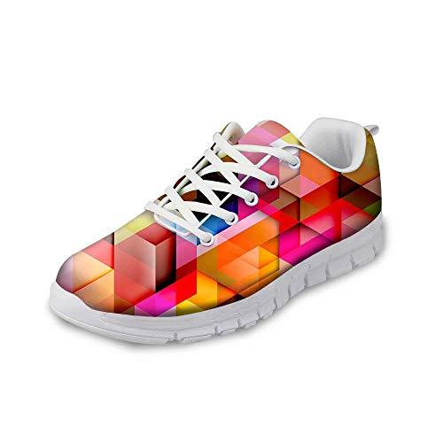 MODEGA Bunte Schuhe Plaid Turnschuhe Turnschuh Schnürsenkel Sportschuhe für Frauen Plus Größe Bowlingschuhe Jugend Sneaker für Männer Schuhe Männer große Breite Bowling Größe 42 EU|7.5 UK