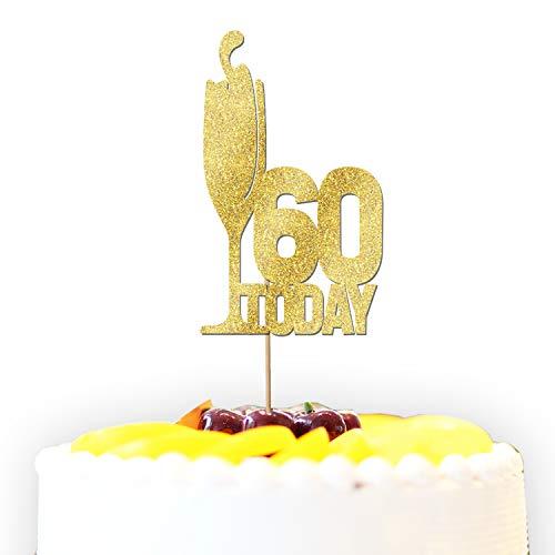 Gepersonaliseerde 30/40/50/60 Vandaag Prosecco Glitter Taart Topper Decoratie - Elke kleur/Wording/Leeftijd/Gelegenheid