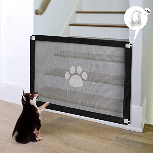 PETLESO Magisches Hundetreppenschutzgitter für Haustiere, 80 x 100 cm, einfach zu installieren, verschließbarer Netzschutz für Hunde und Welpen.