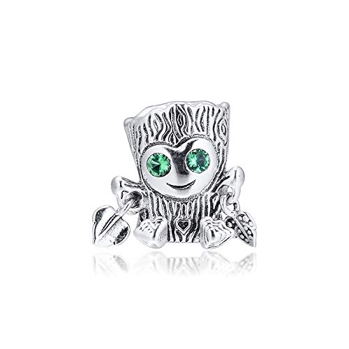 925 Sterling Silver Pandora Ladies Bracelet Jewelry Beads Sweet Tree Monster Charms Original Fit Charm For Making Jewellery Glamour Girl Gift