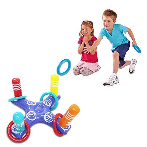 SueSupply Anneaux de Projection de l'eau Gonflable pour Les Enfants Adultes, Jeux de Lancer de Bague pour l'été, Parties de Piscine, décoration de Plage en Plein air