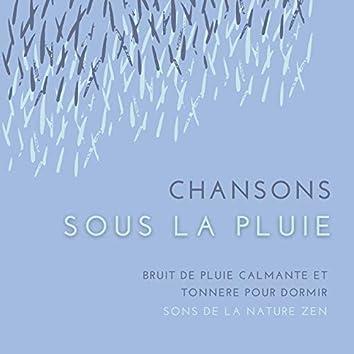 Chansons sous la pluie: Bruit de pluie calmante et tonnere pour dormir, sons de la nature zen