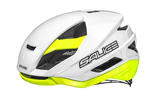 Salice, Casco Bicicletta Unisex Adulto, White-Yellow, 52-58