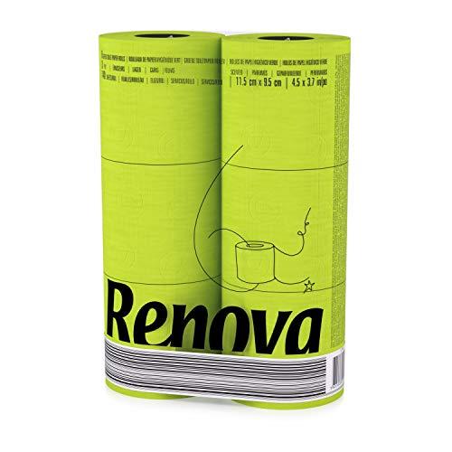 RENOVA farbiges buntes Toilettenpapier 6er Familienpackung - GRÜN