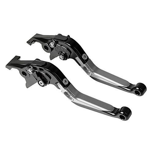 Motorrad Einstellbar Bremskupplungshebel CNC Aluminium Für C600 Sport 2011-2015 C650 GT 2011-2019-Schwarz+Titan+Schwarz+Schwarz