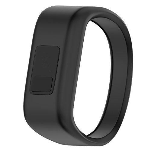 ANCOOL Compatible Garmin Vivofit JR Bands Replacement Silicone Bands Replacement for Garmin Vivofit JR(Replacement Bands ONLY)- Large, Black