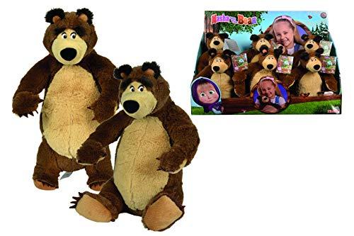 Simba Peluche di Masha e Orso And The Bear, Colore Modelli Assortiti, 109301071009