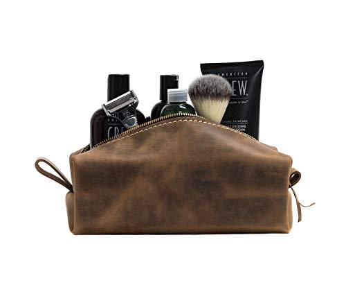 SAN TAN Handmade Genuine Leather Toiletry Bag...