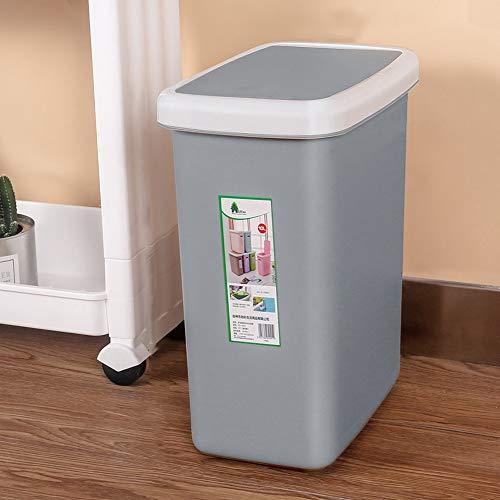 Vocs Cubo de Basura Cuadrado de plástico prensado con Tapa Sala de...