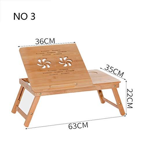 Opvouwbare studietafel, massief houten bamboe computertafel voor binnen, woonhuis leren, laptopstand picknick buiten, campingtafel nr 3