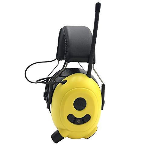 FM MP3 Bluetooth-Radio-Gehörschutz, kabellose Kopfhörer mit integriertem Mikrofon, elektronischer Gehörschutz zur Geräuschreduzierung für Rasenmäher / Holzfäller / Sägen / Bedienen von Maschinen usw.