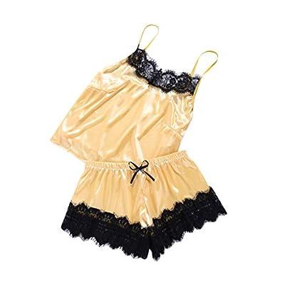 WEI MOLO Sexy Lingerie for Lady Lace Solid Underwear Lace Chemise Sleepwear Babydoll Set Mini Dress Underpants by WEI MOLO