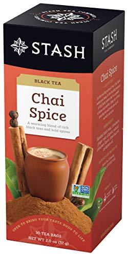 Stash Tea Chai Spice Black Tea, 6 Boxes of 30 Tea Bags Each (180 Tea Bags Total)
