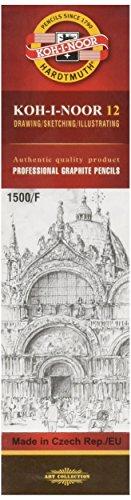 KOH-I-NOOR 1500 grafietstiften, hardheid F (12 stuks)