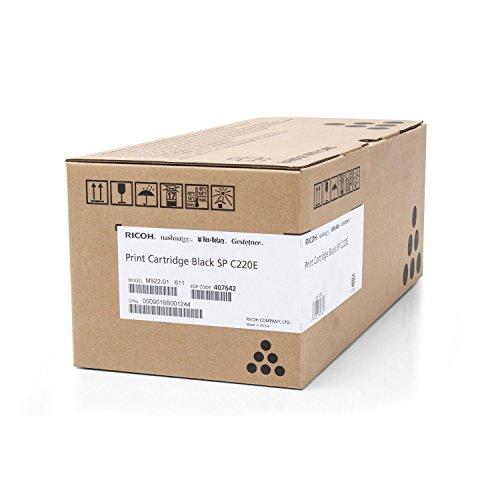 Original Ricoh 406094 / TYPESPC220E, für Aficio SP C 240 DN Premium Drucker-Kartusche, Schwarz, 2000 Seiten