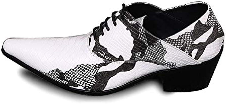 Rui Landed Oxford Für Mnner Formale Schuhe Slip On Style Premium Echtes Leder Mnch Gurt Geprgt Niedrige Spitze Spitz High Heel (Schnürung optional) Nachtclub (Farbe   Slip on, Gre   46 EU)