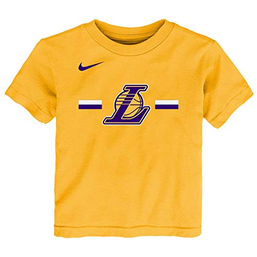 Nike NBA Little Boys Toddler (2T-4T) & Kids (4-7) Essential Logo Tee, Los Angeles Lakers Large (7)