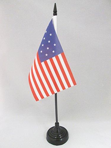 AZ FLAG TISCHFLAGGE USA 15 Sterne 15x10cm - VEREINIGTEN Staaten VON Amerika ALT TISCHFAHNE 10 x 15 cm - flaggen