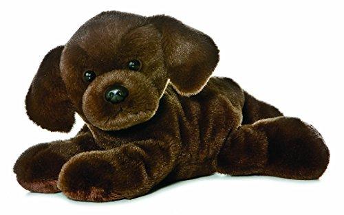 Aurora Mundiales 31257 - Peluches - Mini Flopsie - Lil Lucky Labrador Chocolate, 8 Pulgadas / 20,5 cm