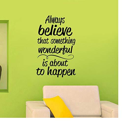 Zkpyy gelooft u altijd, aan mooie pvc-muurstickers met een decoratie van 45,9 cm * 72 cm