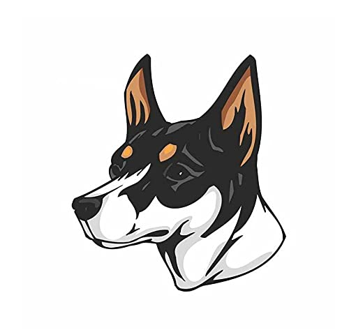 MDGCYDR Pegatinas Coche Perro 13 Cm X 11,7 Cm Miniatura Fox Terrier Perro Pegatinas De Coche Decoración Calcomanía Estilo De Coche Horrible Cabeza De Perro Pegatina De Pared De Coche