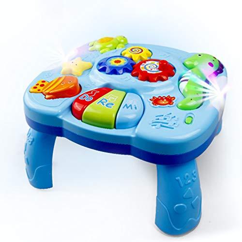 XWEM Mesa Juguete música para bebés, Teclado órgano electrónico Océano Patrón de Animal con música Ligera Aprendizaje Earlizable Escritorio Safe Safetlers Actividad de Regalo Juguetes Coloridos
