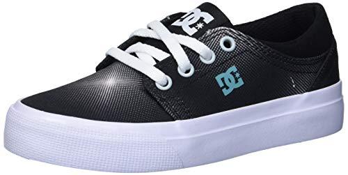 DC Boys' Trase TX SE Skate Shoe, Black/Print, 5 Medium US Big Kid