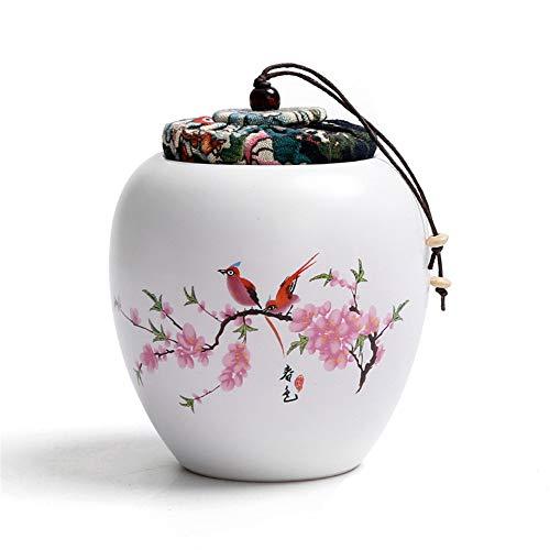 FFDGHB Zuccheriera, Lattine di Ceramica con Coperchio per La Casa E La Cucina, Set da tè Opaco, Lattine di tè, Salvadanaio Sigillato 9,7 * 12 Cm