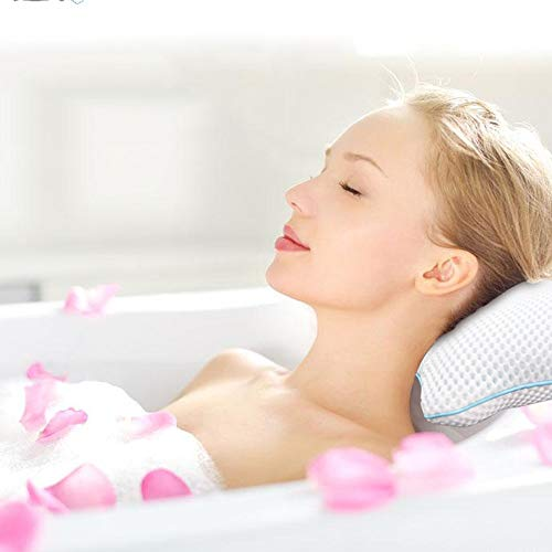 HOMESROP Neck Support 3D Mesh Spa Bath Pillow Bathtub Cushion, Comfortable & Quick Dry - Best Gift for Love!