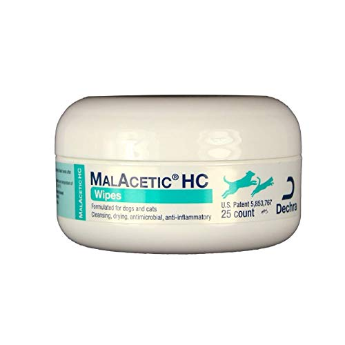 Dechra MalAcetic HC Wipes for Dogs & Cats (25ct)