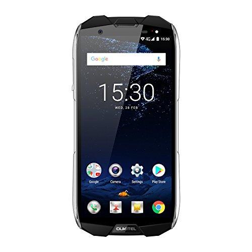 OUKITEL WP5000 Smartphone, 5.7' 4G Telefono Cellulari Sbloccato, IP68 Resistente all'acqua e alla polvere, 18:9 Android 7.1 Octa Core 6GB+64GB, 5200mAh, Fotocamera 16MP+5MP+8MP, Nero