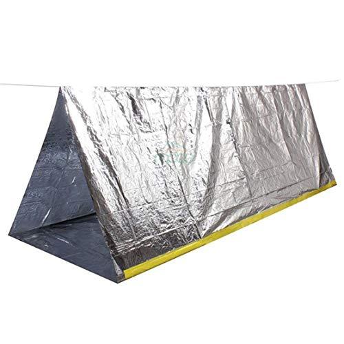 YSINFOD Notfallzelt Einfache tragbare Outdoor-Einweg-Erste-Hilfe-Zeltfolie Überlebensdecke Erste Hilfe für Wanderer Skifahrer Läufer, Silber Farbe