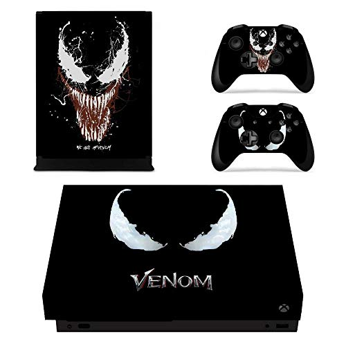 XIANYING Spiderman Vs Venom Full Cover Skin Console & Controller Decal Stickers for Xbox One X Skin Stickers Vinyl