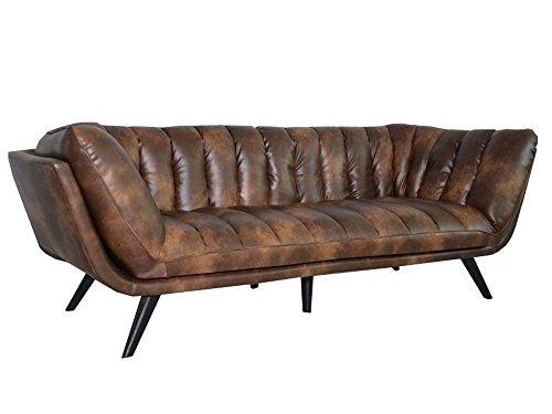 Ledersofa Braun Echtes Leder Couch Sofa Big Braun Vintage XXL 50er Designer Neu