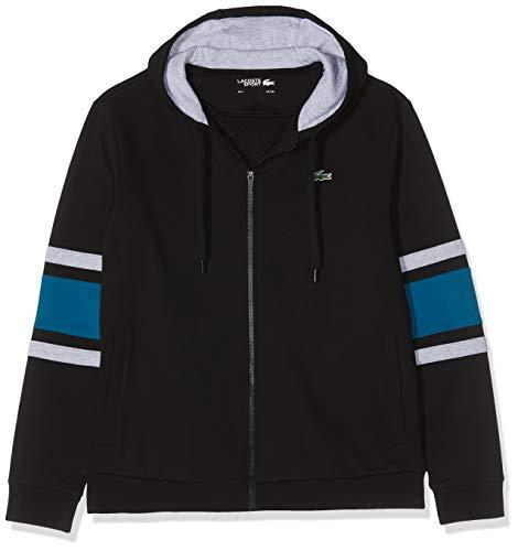 Lacoste Sport Herren Sh8658 Sweatshirt, Schwarz (Noir/Enluminure-Argent Ch 1vf), Large (Herstellergröße: 5)