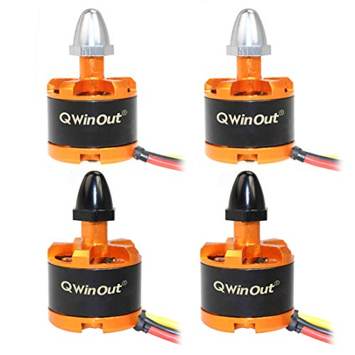 QWinOut 920KV Brushless Motor with Motor Cap for 3-4S Lipo F330 F450 F550 Compatible for dji Phantom Cheerson CX-20 DIY RC Quadcopter Drone (CW2+CW2)