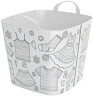 Life Story Tub Panier en Plastique, Bac de Rangement, Panier à Linge, Bac de Rangement Jouets Enfants, 25L - 41×35×34.5 cm