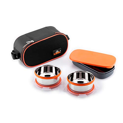 Wellcare Carewell Royal Double Decker 2 Containers with Small Lunch Box (1000 ml)