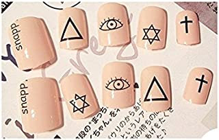 TBOP FAKE NAIL art reusable French long Artifical False nails 24 pcs set in Beige color