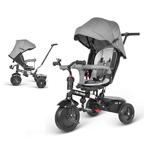 besrey Triciclo para bebés Bicicletas 7 en 1 triciclos niños con Asiento Giratorio