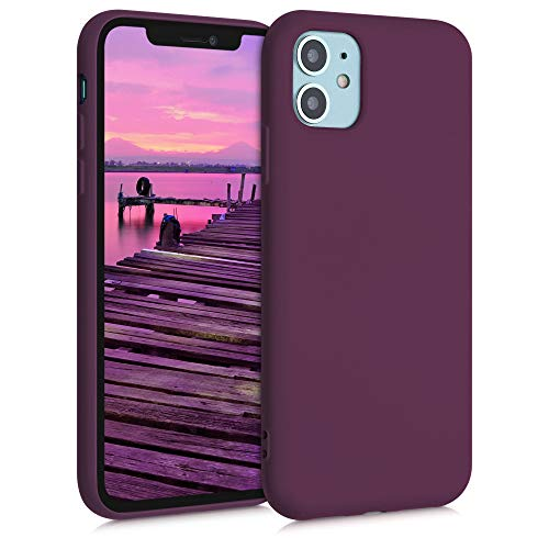 kwmobile Hülle kompatibel mit Apple iPhone 11 - Hülle Handy - Handyhülle in Bordeaux Violett