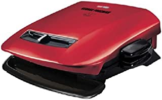 George Foreman GRP2841R 5-Serving Removable Plate Grill with Variable Temperature, Red by George Foreman