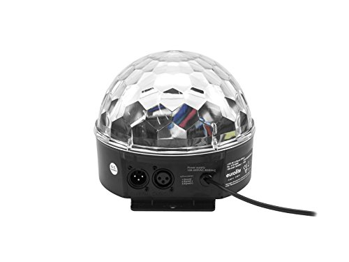 Eurolite LED BC-6 Strahleneffekt   Kompakter Spiegelkugel-Effekt mit leuchtenden Plexiglaskugel & DMX   Musiksteuerung über eingebautes Mikrofon