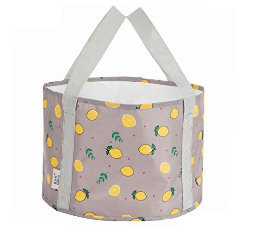 Kabinga Opvouwbare voetenreinigingstas, draagbaar, voor buiten, limongrijs, Oxford-doek, grijs