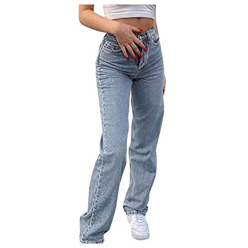Sallyohno Damen Cord Hose mit Taschen Loose fit Bequeme Freizeithosen High Waist Lange Cordhose Y2K Frauen Pants mit Schmetterling Gedruckt (Blue, Small)