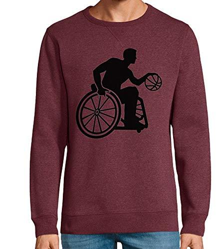 tostadora - Hoodie Rollstuhl-Basketball - Manner und Frauen Bordeaux meliert L