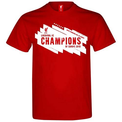 Liverpool FC - Camiseta diseño Champions League Winners para Hombre Caballero (L) (Rojo)